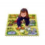 Напольные коврики-пазлы для детей: Коврик-пазл Lee chuyn Сафари (81 элемент)
