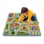 Напольные коврики-пазлы для детей: Коврик-пазл Lee chuyn Карта (81 элемент)