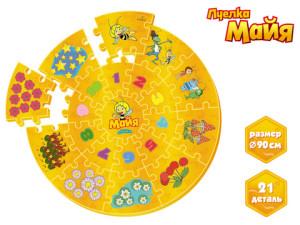 Напольные коврики-пазлы для детей:Коврик-пазл GT6340 Майя 90 см, в сумке ТМ Пчелка Майя