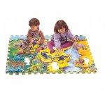 Напольные коврики-пазлы для детей:Коврик-пазл Lee chuyn Африканские животные (18 элементов)