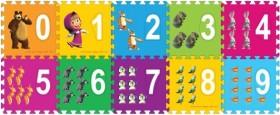 Напольные коврики-пазлы для детей: Играем вместе Маша и медведь с цифрами FS-NUM-03-MM