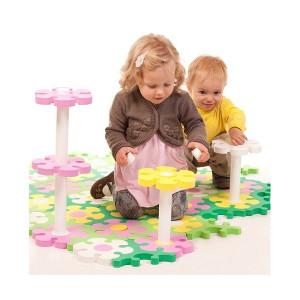 Напольные коврики-пазлы для детей: Развивающий 3d-пазл Flower Tessell - столик - Цветочная поляна (Тессел)